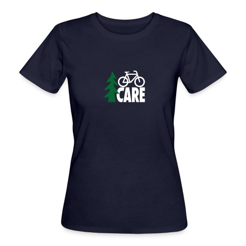 I CARE WMS Bike navy/green/black - Frauen Bio-T-Shirt