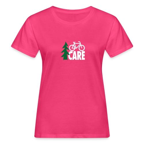 I CARE WMS Bike pink/green/black - Frauen Bio-T-Shirt