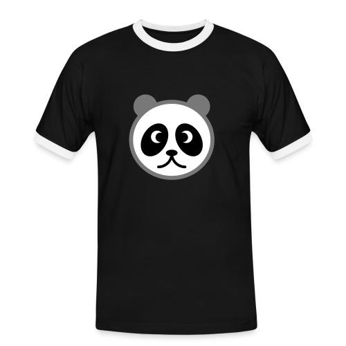 Pandabär - Männer Kontrast-T-Shirt