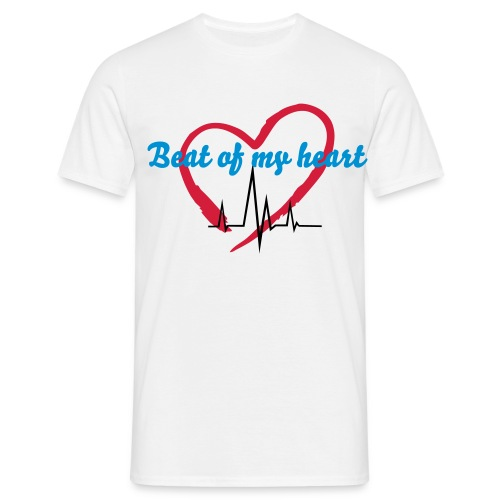 Beat of my heart shirt - Mannen T-shirt