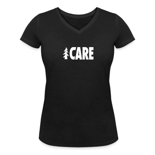 I CARE WMS Basic V-Ausschnitt black/all white - Frauen Bio-T-Shirt mit V-Ausschnitt von Stanley & Stella