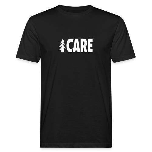 I CARE MEN Basic black/all white - Männer Bio-T-Shirt
