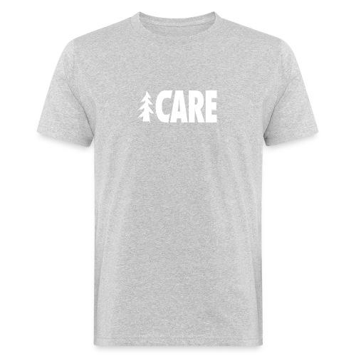 I CARE MEN Basic grey/all white - Männer Bio-T-Shirt