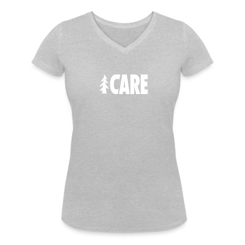 I CARE WMS Basic V-Ausschnitt grey/all white - Frauen Bio-T-Shirt mit V-Ausschnitt von Stanley & Stella