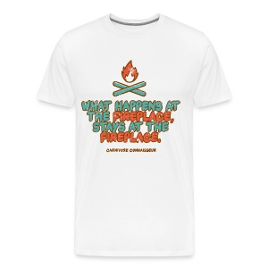 What happens at the fireplace stays at the fireplace - Vintage Grillshirt - Männer Premium T-Shirt