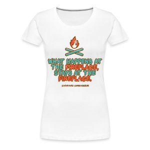 What happens at the fireplace stays at the fireplace - Vintage Grillshirt - Frauen Premium T-Shirt