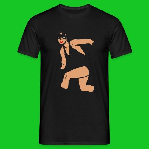 Kat vrouw heren t-shirt - Mannen T-shirt