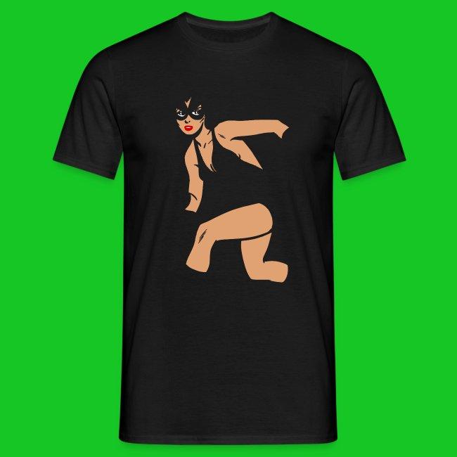 Kat vrouw heren t-shirt