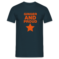 T-Shirts ~ Men's T-Shirt ~ Ginger And Proud Star