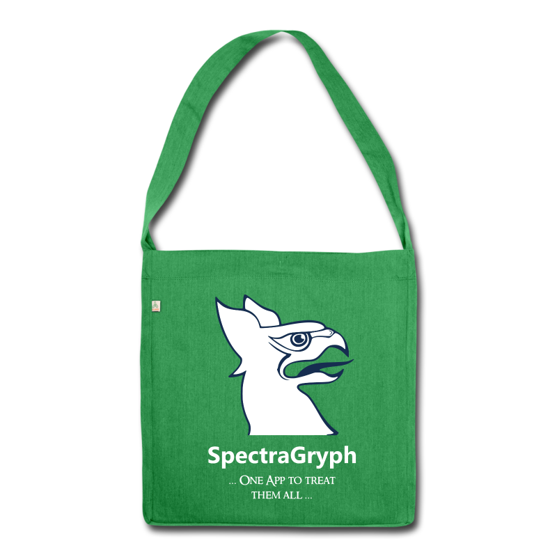 Spectragryph_spruch01p - Schultertasche aus Recycling-Material