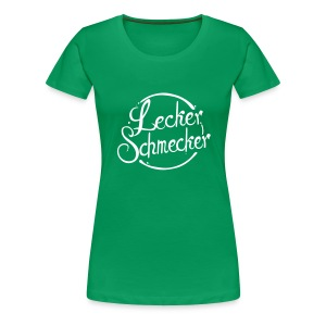 Leckerschmecker - Damen T-Shirt - Flex Logo in weiß - Frauen Premium T-Shirt