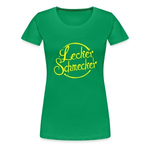 Leckerschmecker - Damen T-Shirt - Flex Logo in gelb - Frauen Premium T-Shirt