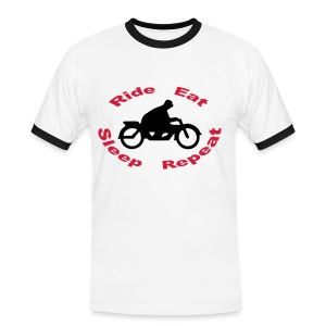 Ride Eat Sleep Repeat 3.0 - Männer Kontrast-T-Shirt