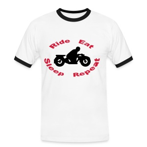 Ride Eat Sleep Repeat 1.0 - Männer Kontrast-T-Shirt