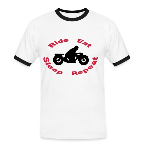 Ride Eat Sleep Repeat 1.0 - Männer Kontrast-T-Shirt