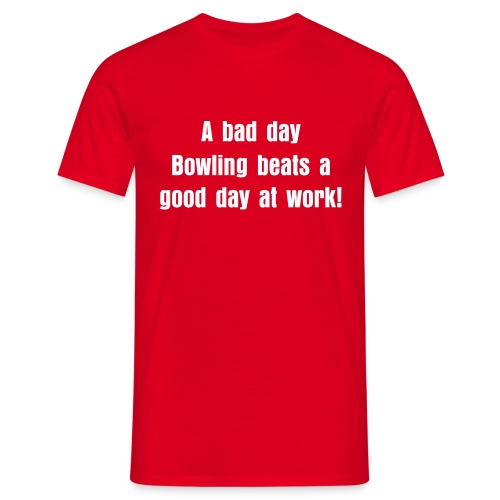 A bad day  - T-shirt herr