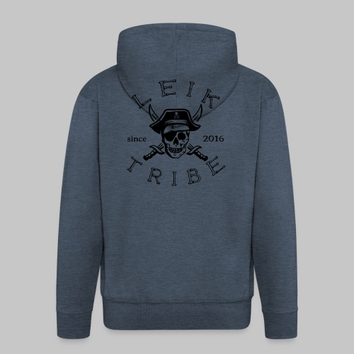 Leik Tribe Pirat sweatjacket (m) grey - Männer Premium Kapuzenjacke
