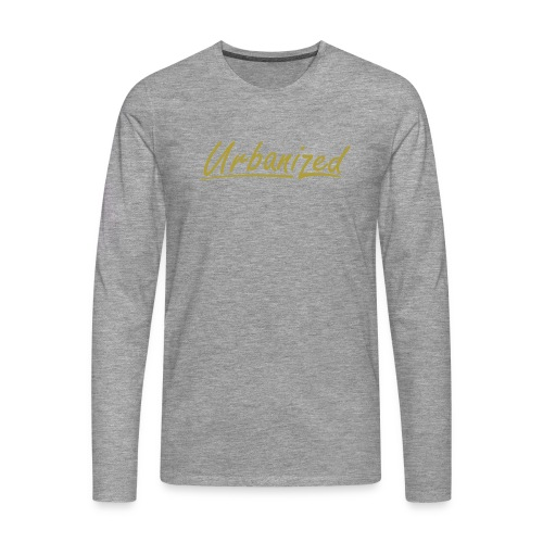 Urban Gold long grey - Men's Premium Longsleeve Shirt