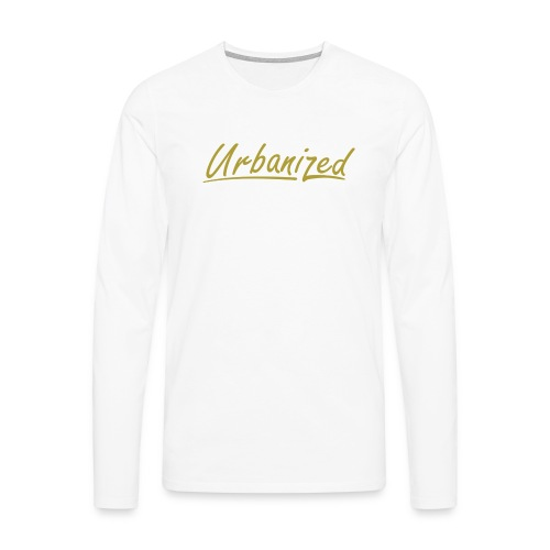 Urban Gold long white - Men's Premium Longsleeve Shirt