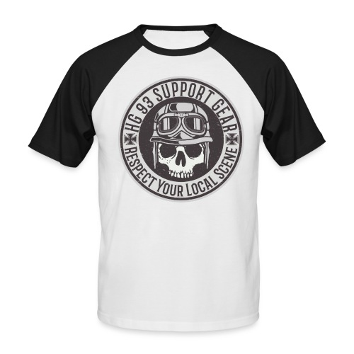 Respect Your Local Scene - Männer Baseball-T-Shirt