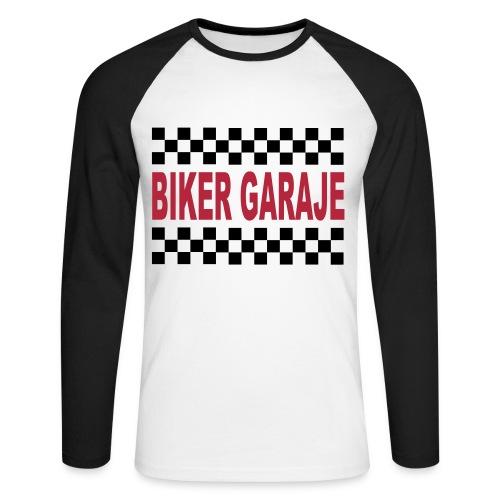 Biker Garaje Racing - Raglán manga larga hombre