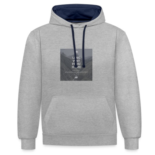 long way from home hoodie - Kontrastluvtröja