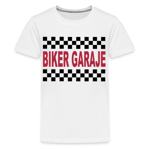 Cafe Racer Biker Garaje - Camiseta premium adolescente