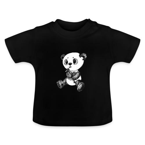 Panda Bär scribblesirii weiß - Baby-T-shirt