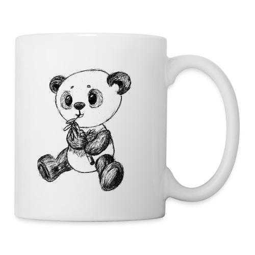 Panda Bär scribblesirii schwarz - Mug