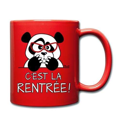Tasse Panda désespéré, C'est la Rentrée! - Mug uni