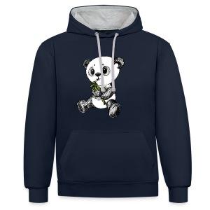 Panda Bär scribblesirii farbig - Kontrast-hettegenser