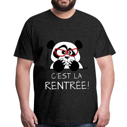 T-shirt P Homme Panda désespéré, C'est la Rentrée! - T-shirt Premium Homme