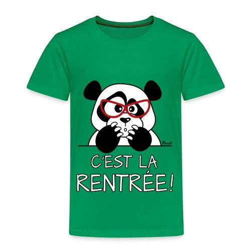 T-shirt P Enfant Panda désespéré, C'est la Rentrée! - T-shirt Premium Enfant