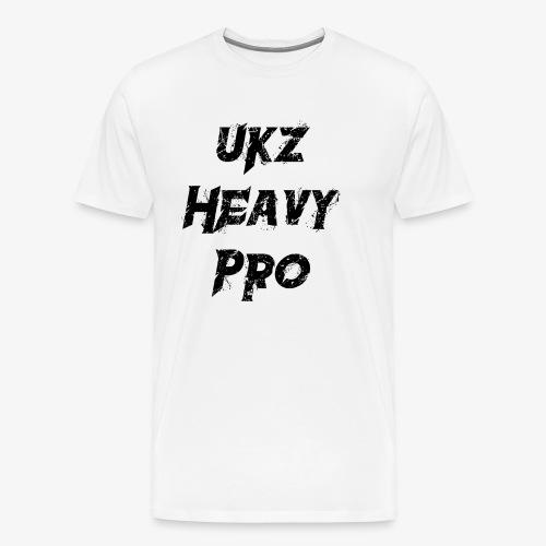 UkzHeavyPro T-Shirt White Mens - Men's Premium T-Shirt