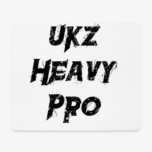 UkzHeavyPro Mouse Pad White - Mouse Pad (horizontal)