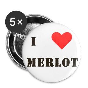 I love Merlot - Buttons small 25 mm