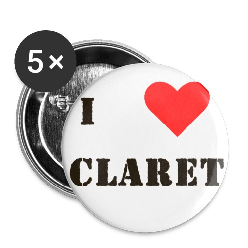 I love claret - Buttons small 25 mm