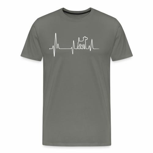 Irish Terrier Herz EKG - Männer Premium T-Shirt