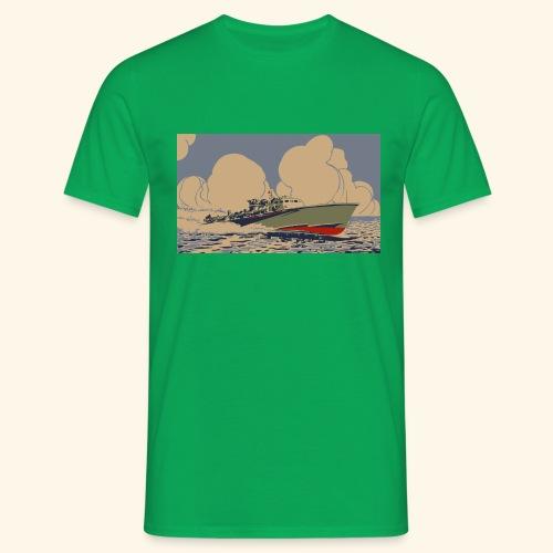 vintage marine boat - Mannen T-shirt
