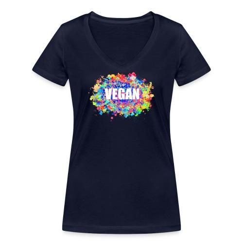 Vegan - Frauen Bio-T-Shirt mit V-Ausschnitt von Stanley & Stella