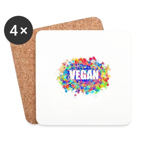 Vegan - Untersetzer (4er-Set)
