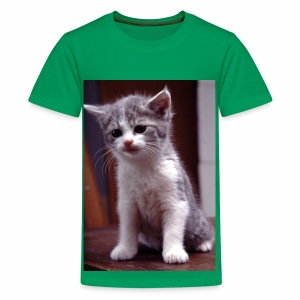 Shirt mit Jungkatze - Teenager Premium T-Shirt