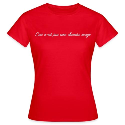 Ceci c'est pas [female] - T-shirt dam