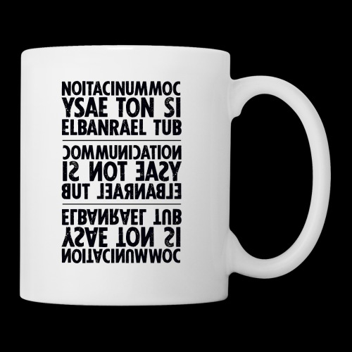 communication black sixnineline - Tasse