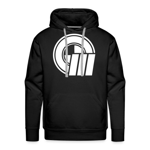 Logo Front & Domain on Back - Men's Premium Hoodie
