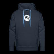 Hoodies & Sweatshirts ~ Men's Premium Hoodie ~ Small Logo Front & Domain on Back