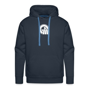 Small Logo Front & Domain on Back - Men's Premium Hoodie