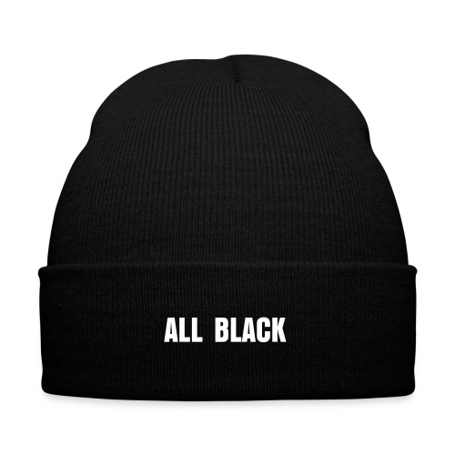 BONNET ALL BLACK - Bonnet d'hiver