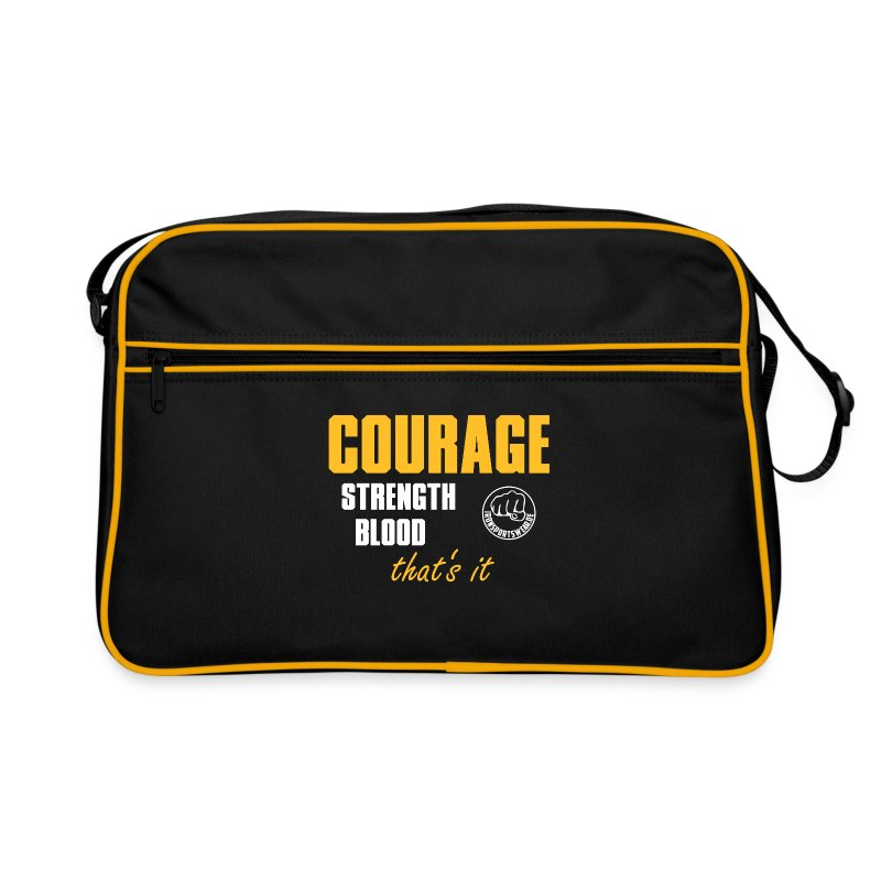 CourageStrengthBlood - Retro Tasche