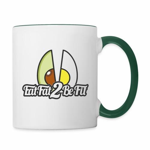 tasse logo carré 2 fois - Mug contrasté
